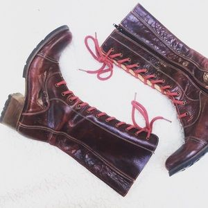 Destroy made in Spain 90's punk red euro boots